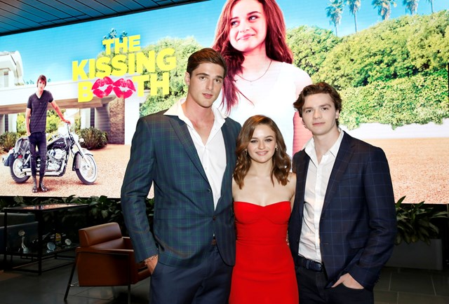 The cast of 'The Kissing Booth' are waiting on Netflix for a