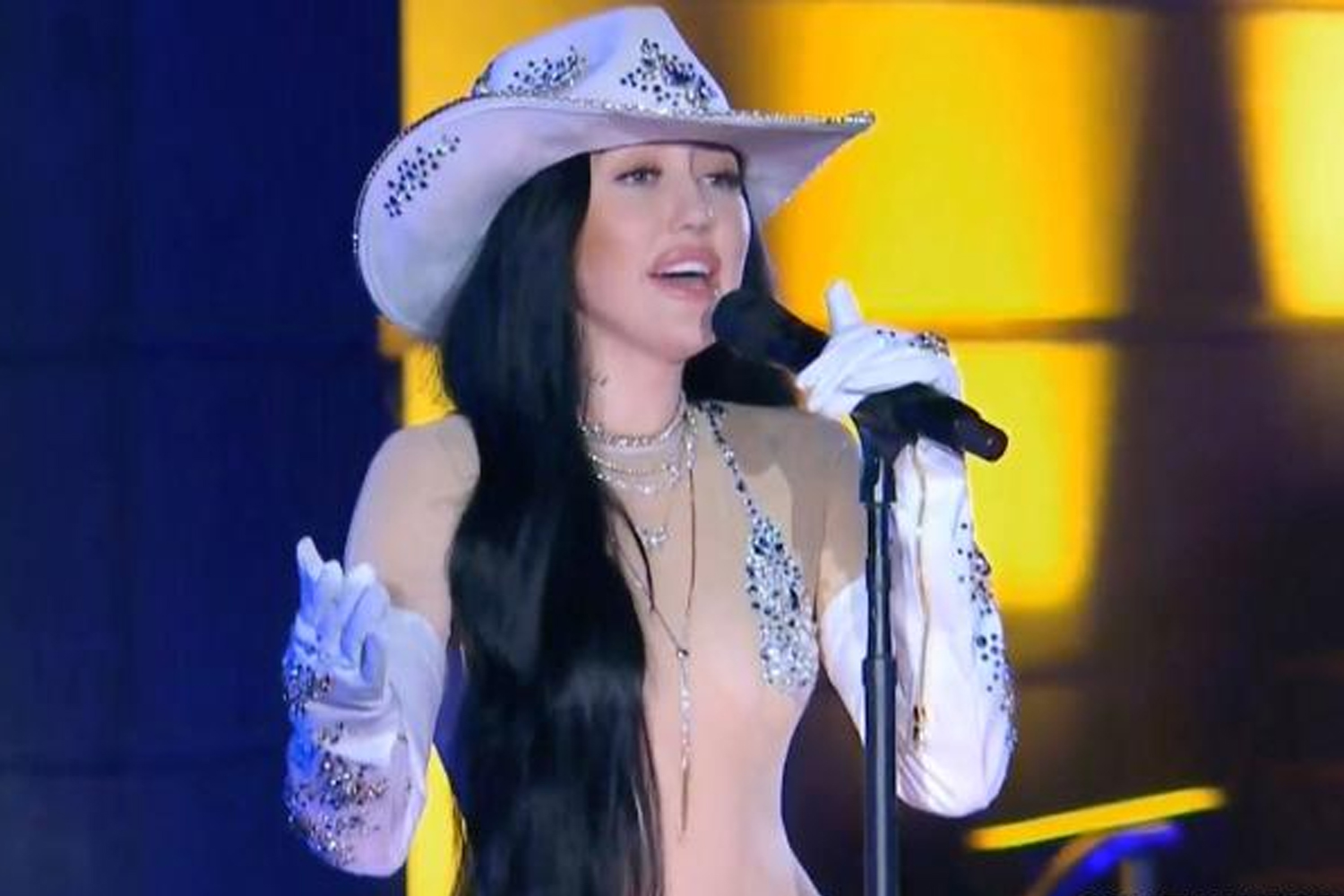 Noah Cyrus has clapped back against haters criticising her nude sheer bodysuit in her recent CMT performance