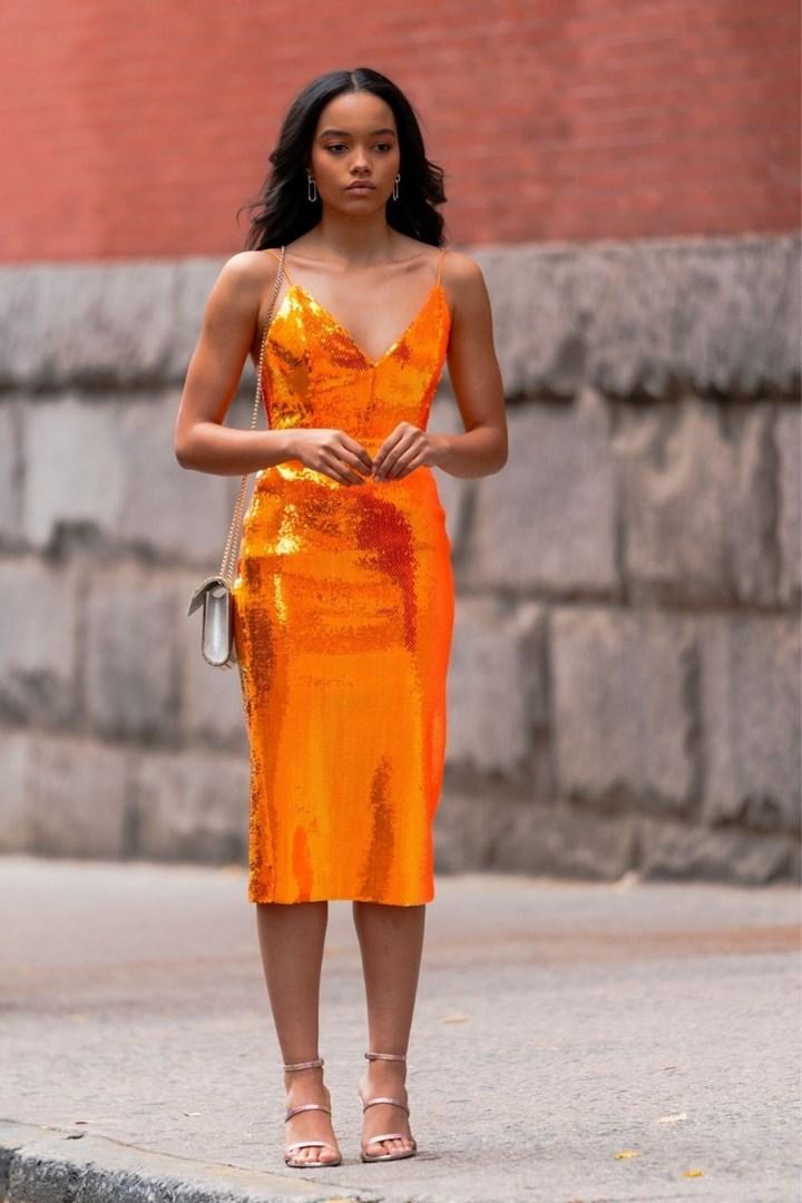 gossip girl orange dress