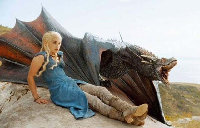 The Internet Is Losing It At What Emilia Clarke Looks Like Riding A Dragon Without CGI